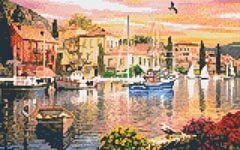 Harbour Sunset - 8 Baseplate Kit (8BP85)